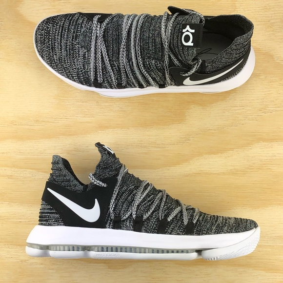 best cheap 0c77e 5a0f5 Nike Zoom KD 10 Black White Oreo Basketball Shoes NWT